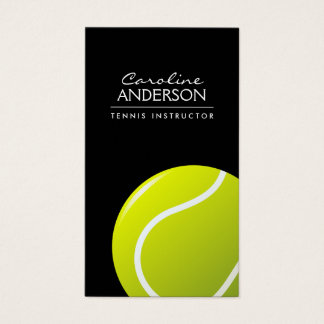 Tennis coach / instructor / player black business card