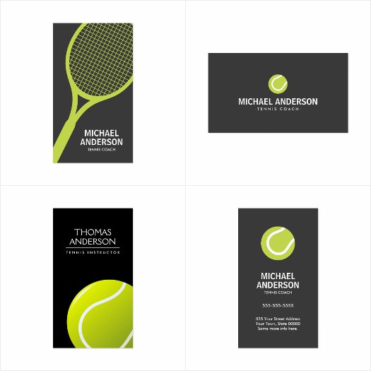 Tennis coach / instructor / player business card