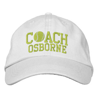 Tennis Coach Personalized Cap