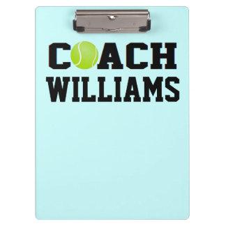 Tennis Coach - Personalized Clipboard