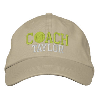 Tennis Coach Personalized Embroidered Baseball Cap