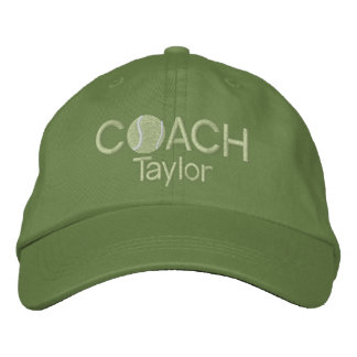 Tennis Coach Personalized Embroidered Baseball Hat