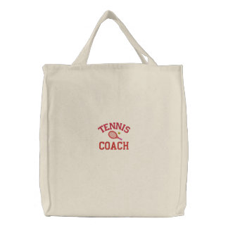 Tennis Coach Tote Bag Embroidered