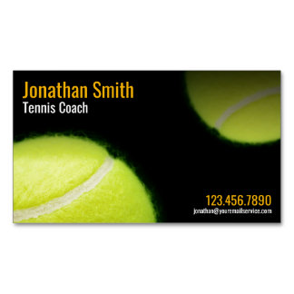 Tennis Coach Trainer Practice Lessons Magnetic Business Card