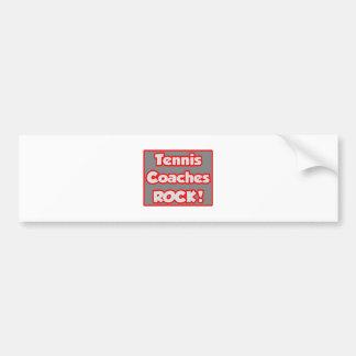 Tennis Coaches Rock Bumper Stickers