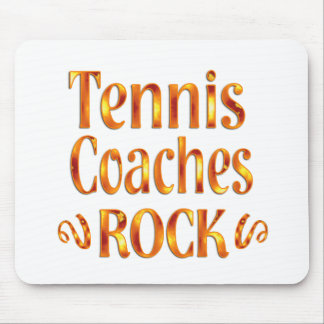 Tennis Coaches Rock Mouse Pad