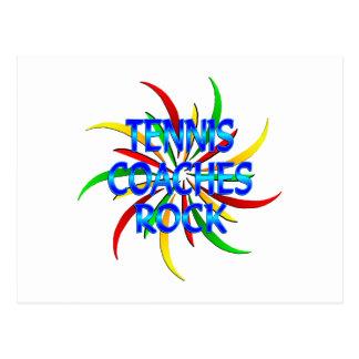 Tennis Coaches Rock Postcard