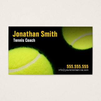 Tennis Coaching For Tennis Instruction Business Card
