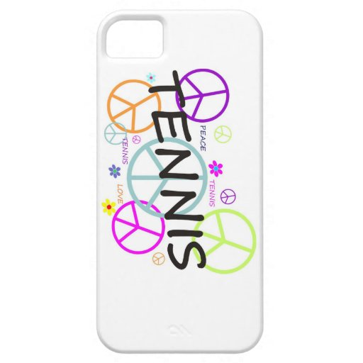 Tennis Colored Peace Signs iPhone 5 Covers