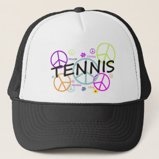 Tennis Colored Peace Signs Trucker Hat