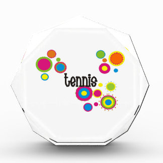Tennis Cool Polka Dots Acrylic Award