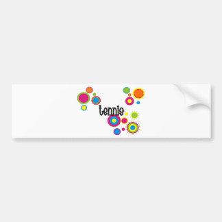 Tennis Cool Polka Dots Bumper Stickers