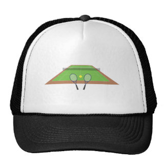 Tennis Court and Racket Hat