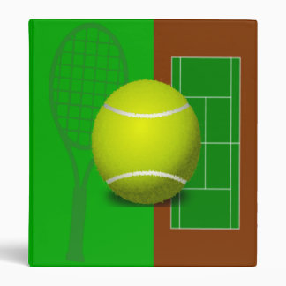 Tennis Court and Racquets 3 Ring Binder