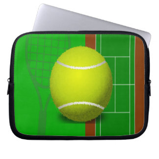 Tennis Court and Racquets Computer Sleeve
