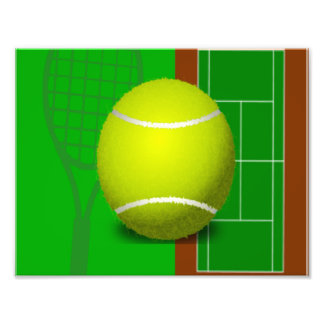 Tennis Court and Racquets Photo Art