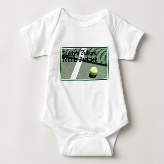 tennis_court, Daddy's Future Tennis Partner Baby Bodysuit