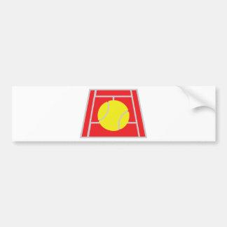 tennis court icon car bumper sticker
