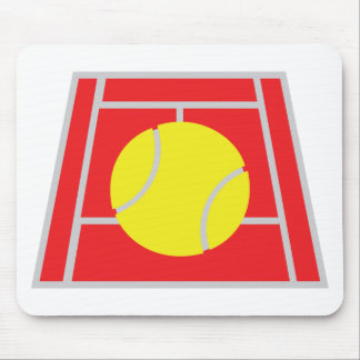 tennis court icon mouse pad