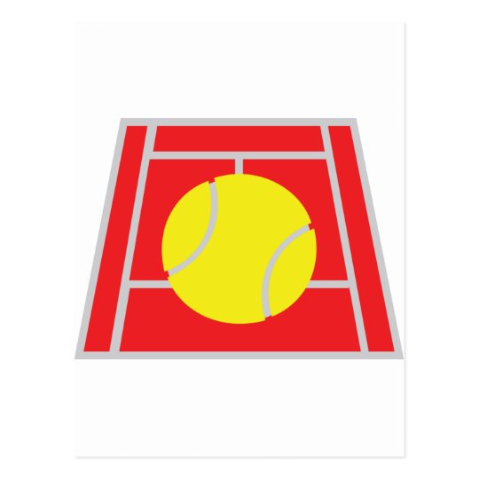 tennis court icon postcard