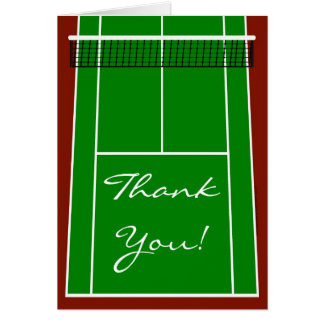 Tennis Court Layout Graphic Greeting Cards