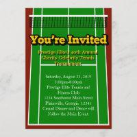Tennis Court Layout Graphic Invitation