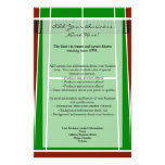 Tennis Court Layout Graphic Personalized Flyer