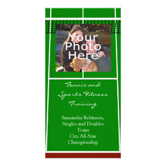 Tennis Court Layout Graphic Photo Greeting Card