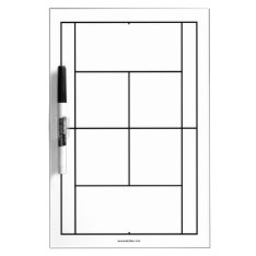 Tennis Court Materials For Lessons | Whiteboard at Zazzle