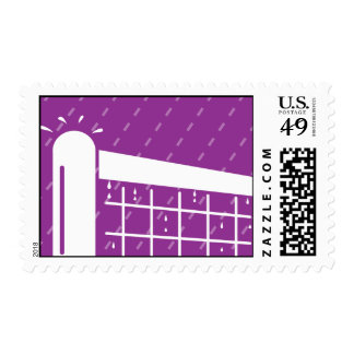 Tennis court net pole postage stamps