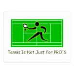Tennis court postcard