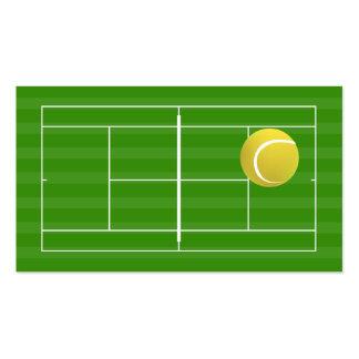 Tennis court & tennis ball business card template