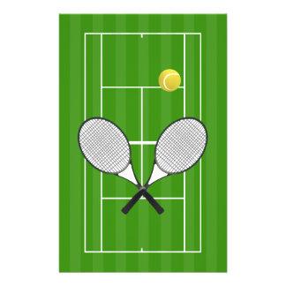 Tennis Court & Tennis Ball Flyer