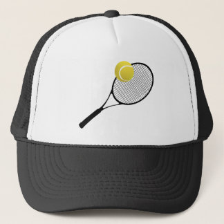 Tennis court & TENNIS RACKET Trucker Hat