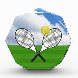 Tennis court & TENNIS RACKETS Acrylic Award