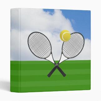 Tennis court & TENNIS RACKETS Vinyl Binder