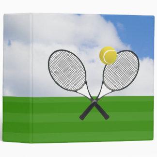 Tennis court & TENNIS RACKETS 3 Ring Binder