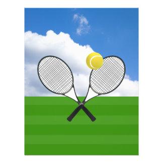 Tennis court & TENNIS RACKETS Flyer