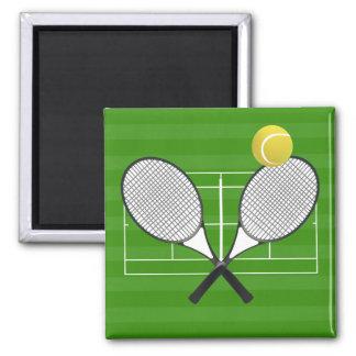 Tennis court & TENNIS RACKETS Magnet