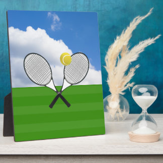 Tennis court & TENNIS RACKETS Plaque