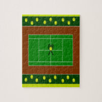 Tennis Court & Tennis Racquets Jigsaw Puzzle