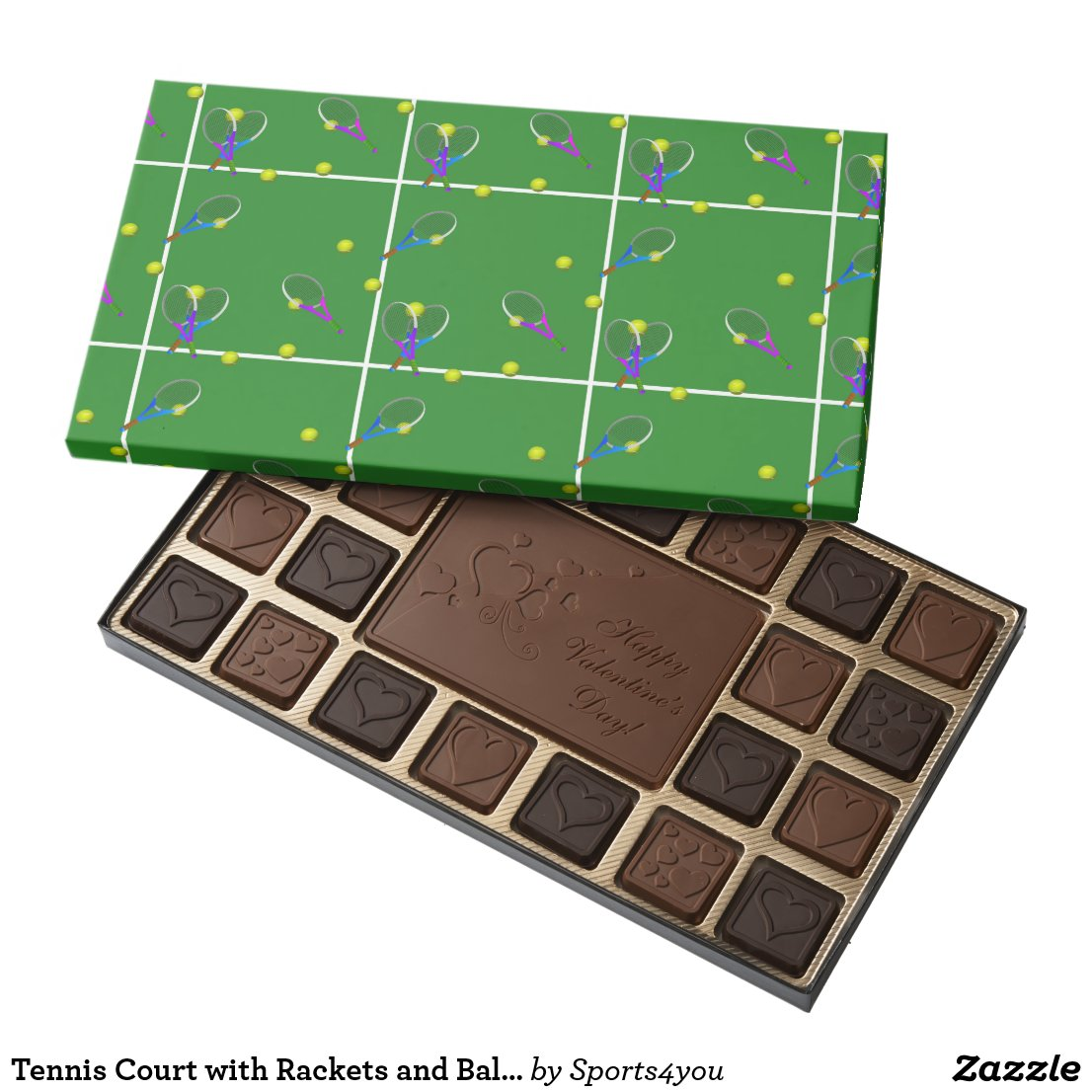 Tennis Court with Rackets and Balls Assorted Chocolates