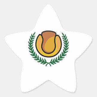 TENNIS CREST STAR STICKER