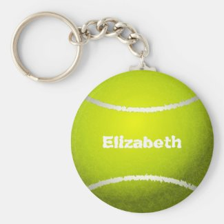 Tennis Custom Ball Keychain