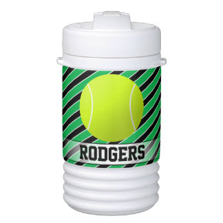Tennis Custom Green & Black Player or Team Name Cooler