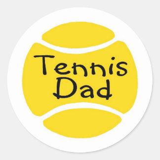 Tennis Dad 2 Classic Round Sticker