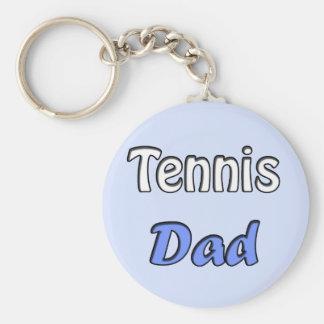 Tennis Dad Basic Round Button Keychain