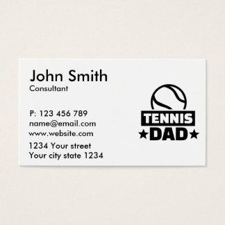 Tennis dad business card