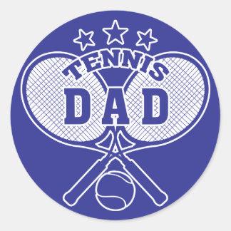 Tennis Dad Classic Round Sticker