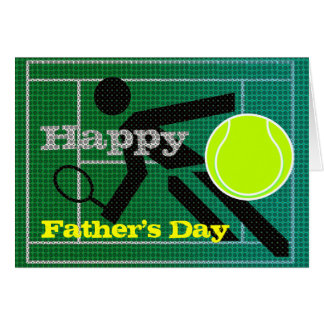Tennis Dad Happy Father's Day Card